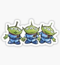 Three Aliens Sticker