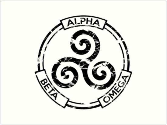 Alpha Beta Omega Trisquel 2 Art Prints By Bitchyboy Redbubble