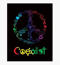 COEXIST Photographic Print