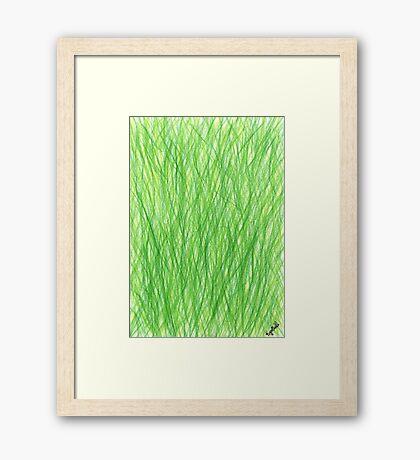 2201 - Schwingendes Weizengrasfeld Framed Print