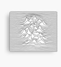 Schwarzweiss-Grafik - Schallwellenillustration - Weiß Leinwanddruck