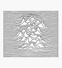 Schwarzweiss-Grafik - Schallwellenillustration - Weiß Fotodruck