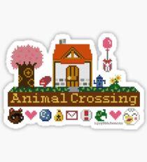 Animal Crossing Pixel house Sticker
