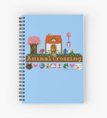 Animal Crossing Pixel house Spiral Notebook