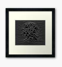 Schwarz-Weiß-Illustration - Schallwelle Grafik - schwarz Gerahmtes Wandbild