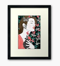 Butterflies // you make my heart flutter Framed Print