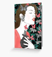 Butterflies // you make my heart flutter Greeting Card