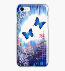Blue Butterflies iPhone Case/Skin