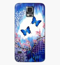 Blue Butterflies Case/Skin for Samsung Galaxy