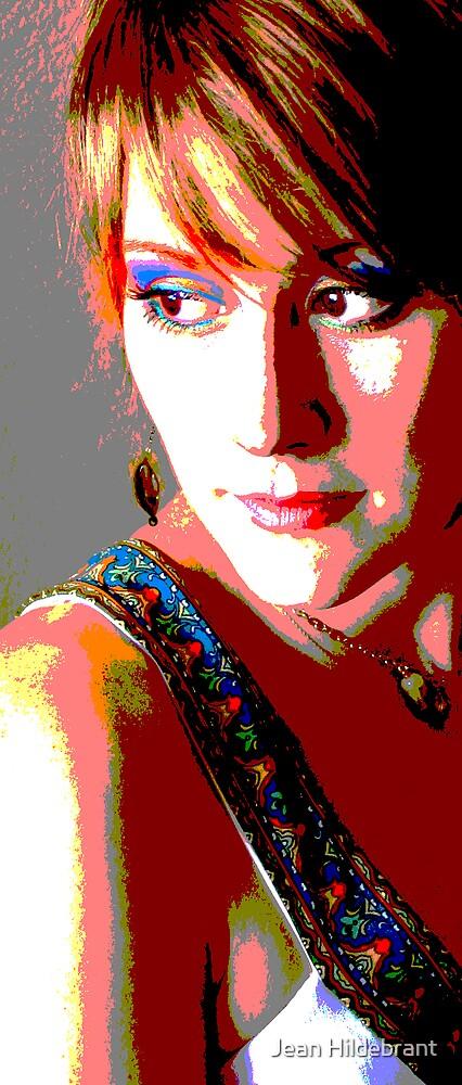 Pop Art Portrait by Jean Hildebrant