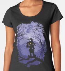 Camiseta premium para mujer Máscara de Zelda Majora Skullkid