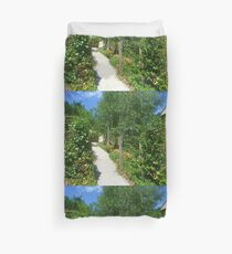 *A Country Path in a Country Garden - Daylesford, Vic. Australia Duvet Cover