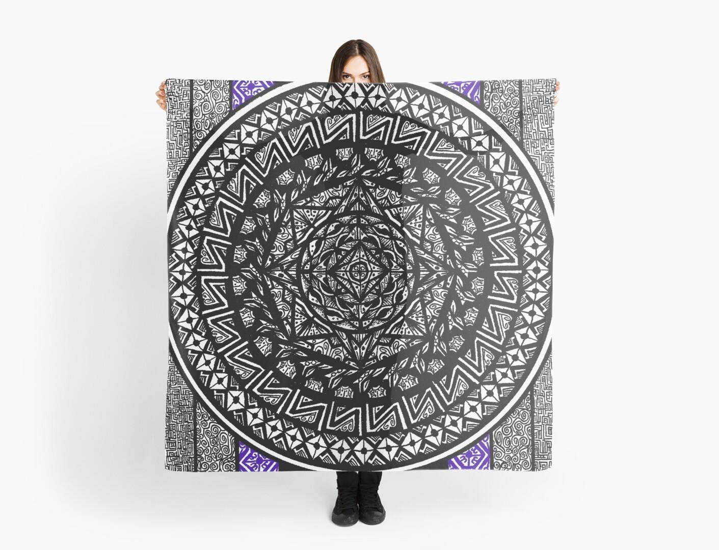 Mandala and Stripes by bobblehead1337