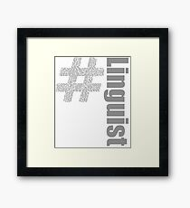 Linguist World Languages Framed Print