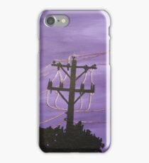 Copper Wire Power Lines iPhone Case/Skin