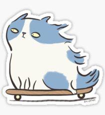 Speed Demon - Skateboarding Kitty Cat Sticker
