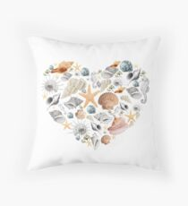 I saw some sea shells Throw Pillow