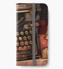 Steampunk - Nur eine gewöhnliche Schreibmaschine iPhone Flip-Case/Hülle/Klebefolie