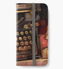 Steampunk - Just an ordinary typewriter  iPhone Wallet/Case/Skin