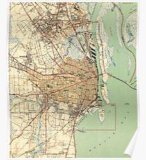 Vintage Map of Mobile Alabama (1940) 2 Poster