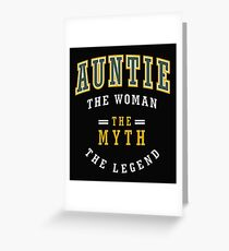 Auntie The Legend  Greeting Card