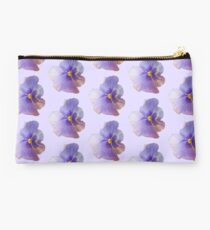 lilac pansy Studio Pouch