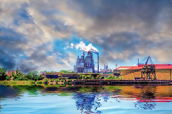 Factory in Winyah Bay by TJ Baccari Photography