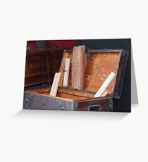 old coffer container Greeting Card