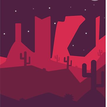 Flatart Mountains & Cacti by Sopheric