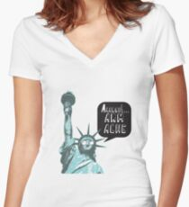 Liberty arm ache Women's Fitted V-Neck T-Shirt
