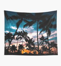 Palm trees summer dream Wall Tapestry