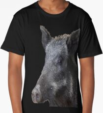 Wild Boar Vector Long T-Shirt
