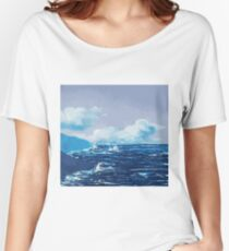 Wild Irish Sea Landscape Painting Women's Relaxed Fit T-Shirt