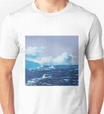 Wild Irish Sea Landscape Painting T-Shirt