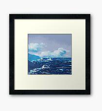 Wild Irish Sea Landscape Painting Framed Print