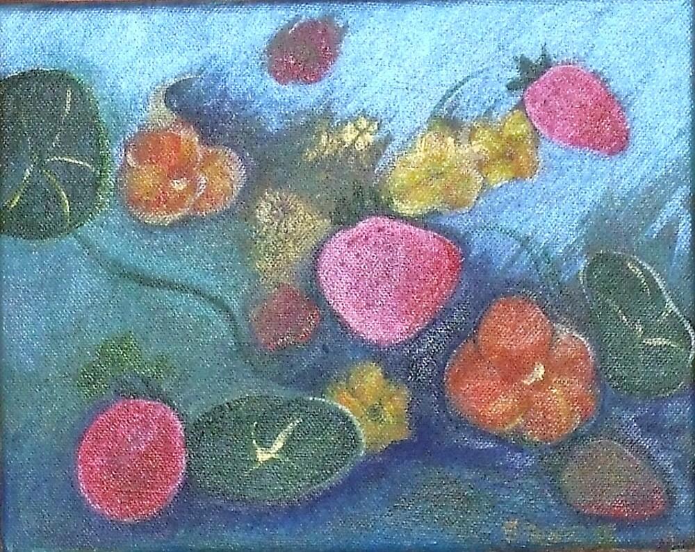 FLOATING FLOWERS I by Dalzenia Sams