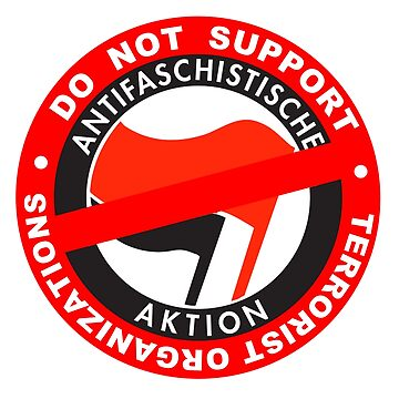 Do Not Support Terrorist Organizations Antifa by undaememe