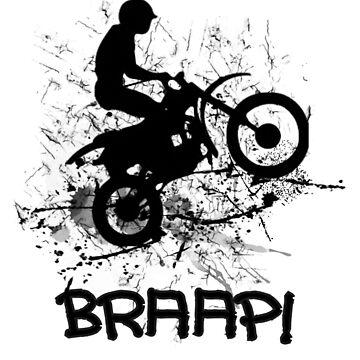 Motocross Dirt Bike Racing Mud Splatter Biker Graphic by Artification