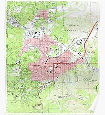 Map of Prescott Arizona (1973) Poster