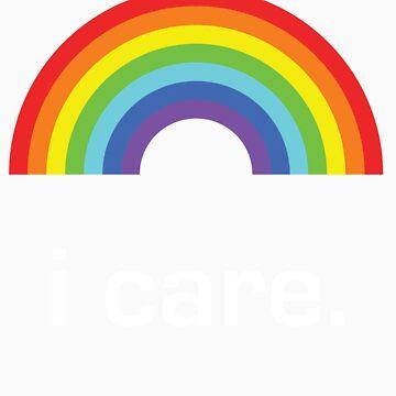 Sichuan Earthquake Rainbow White I Care by icaretees