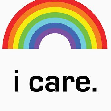 Sichuan Earthquake Rainbow Black I Care by icaretees