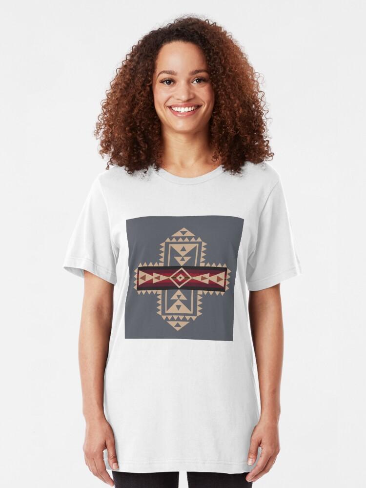 Alternative Ansicht von American Native Muster Nr. 68 Slim Fit T-Shirt