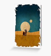 Droids In The Dunes Greeting Card