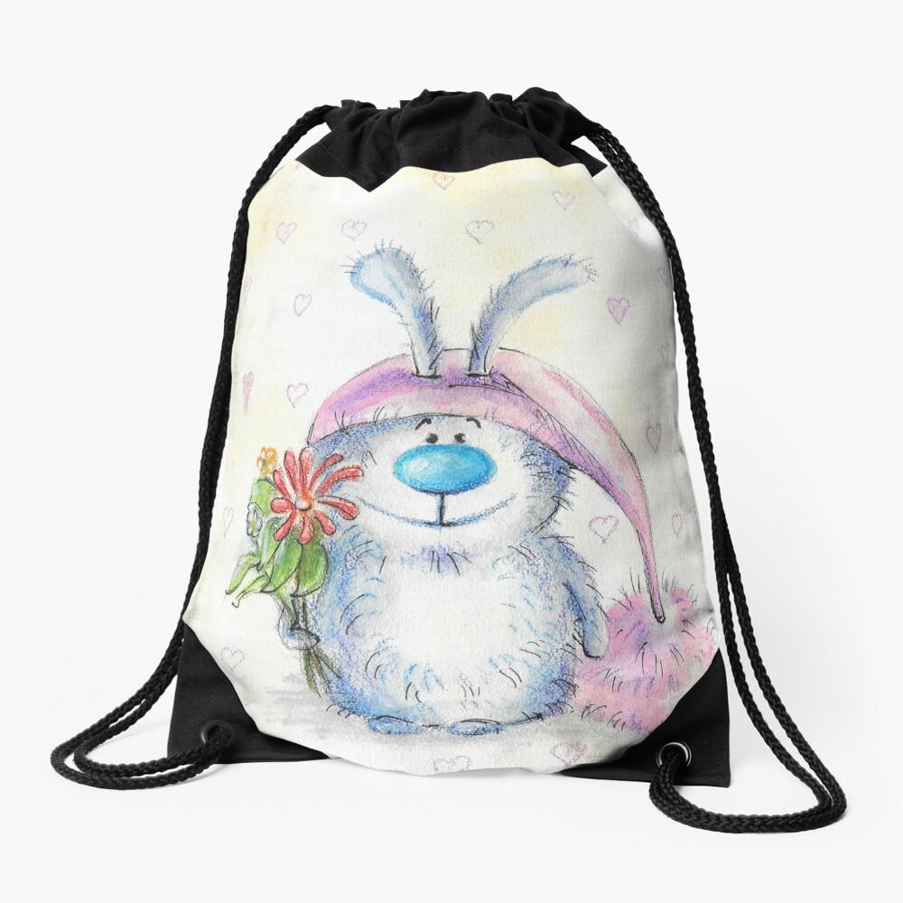 Bunny Drawstring Bag Front