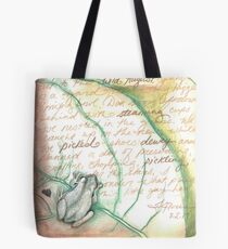 Summer Morning Journal Illustration with Frog Tote Bag