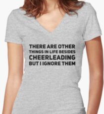 cheerleading Women's Fitted V-Neck T-Shirt