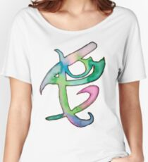 Fandom: The Mortal Instruments / Shadowhunters Fearless Watercolor Rune Women's Relaxed Fit T-Shirt