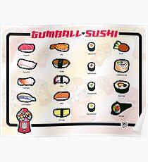 Gumball Sushi     English Poster