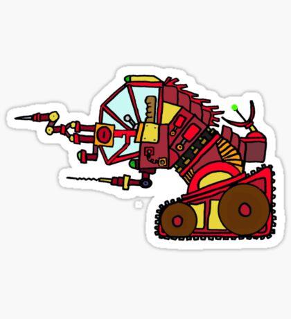 Drill Bot Sticker