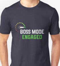 Boss Mode Engaged Gamer T-Shirt T-Shirt